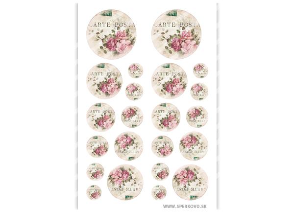 Grafický motív na živicu Kvetinový vintage motív