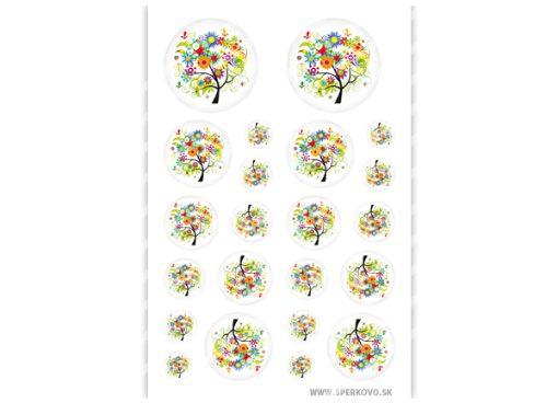 graficky motiv na sperky kvetinovy strom