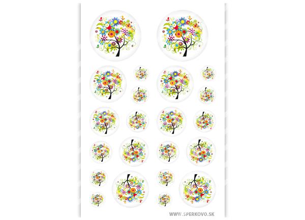 Grafický motív na šperky Kvetinový strom