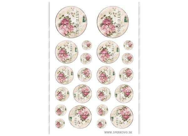 Krištálová živica a grafický motív na šperky Kvety vo vintage štýle