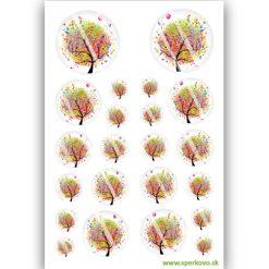 graficky motiv na zalievane sperky duhovy strom
