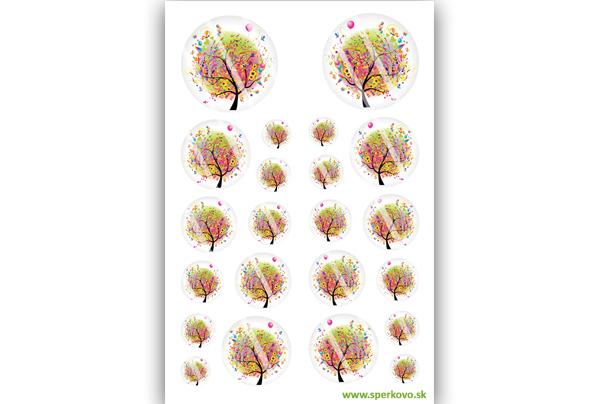 Grafický motív na zalievané šperky Dúhový strom
