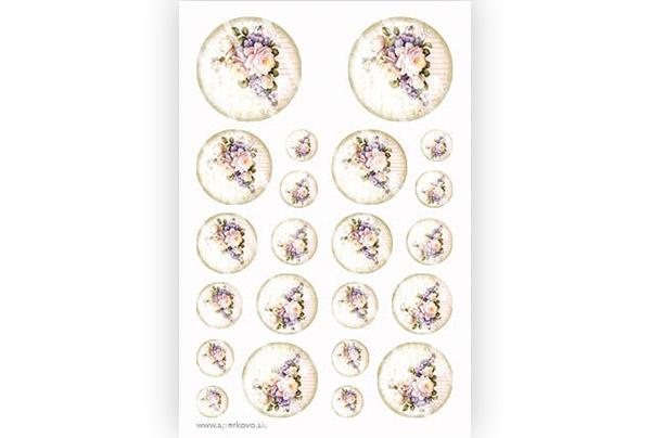 Grafický motív na zalievané živicové šperky Vintage kvietky