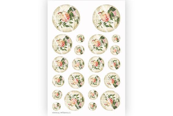 Krištálová živica výroba šperkov motív Ruža s lístkami - Šperkovo.sk b8d31e54a31