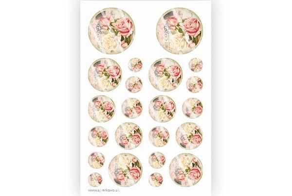 Obrázky a grafické motívy na živicové šperky Veľké vintage ruže