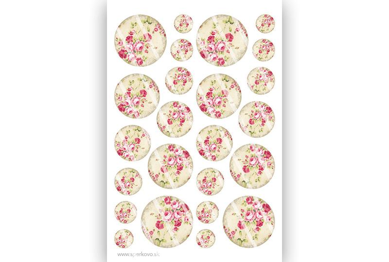 Grafický motív na zalievané šperky Drobné kvety