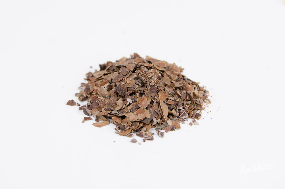 Sušené kakaové šupky do mydla a kozmetiky