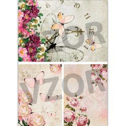Ryžový papier na decoupage R493