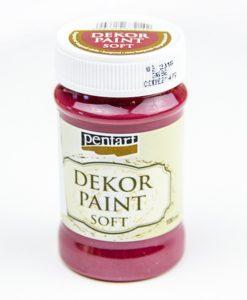 Akrylová farba Decor Paint burgundská červená