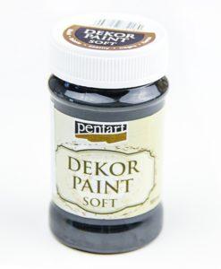 Akrylová farba Decor Paint na dekupáž čierna