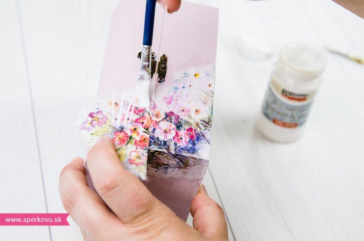 Ryžový papier na decoupage postup
