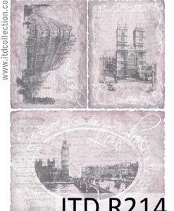 Ryžový papier na dekupáž A4 R214