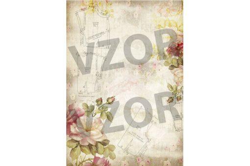Ryžový papier na dekupáž A4 R763