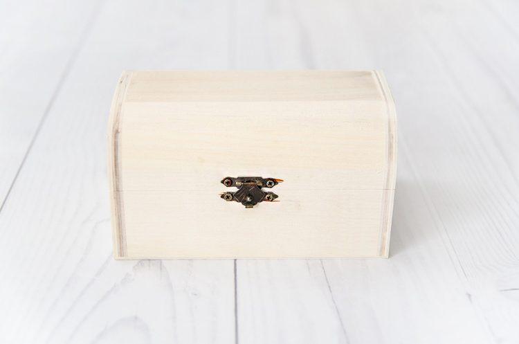 Drevená krabička na decoupage stredná