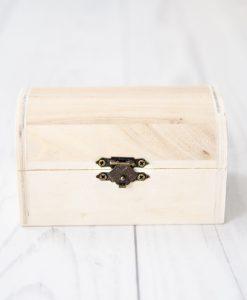 Drevená krabička na dekupáž malá