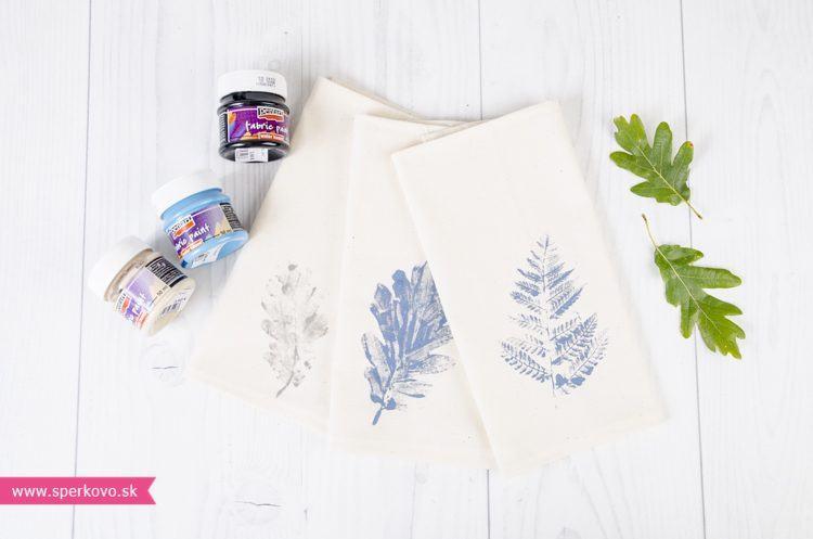 Ako si vyrobiť prestieranie s použitím farieb na textil