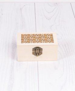 Drevená decoupage krabička s ornamentom malá