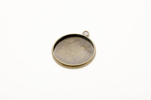 Kovové lôžko na krištálovú živicu 20 mm bronz