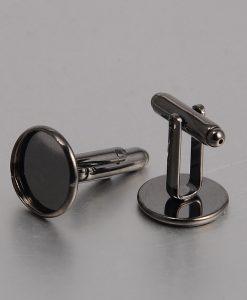 Lôžka na manžetové gombíky čierne 14 mm