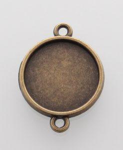 Lôžko bronzové s dvoma očkami 16 mm