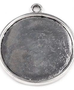 Veľké okrúhle kovové lôžko hladké 30 mm