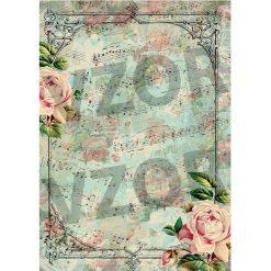 Ryžový papier na dekupáž A4 R367
