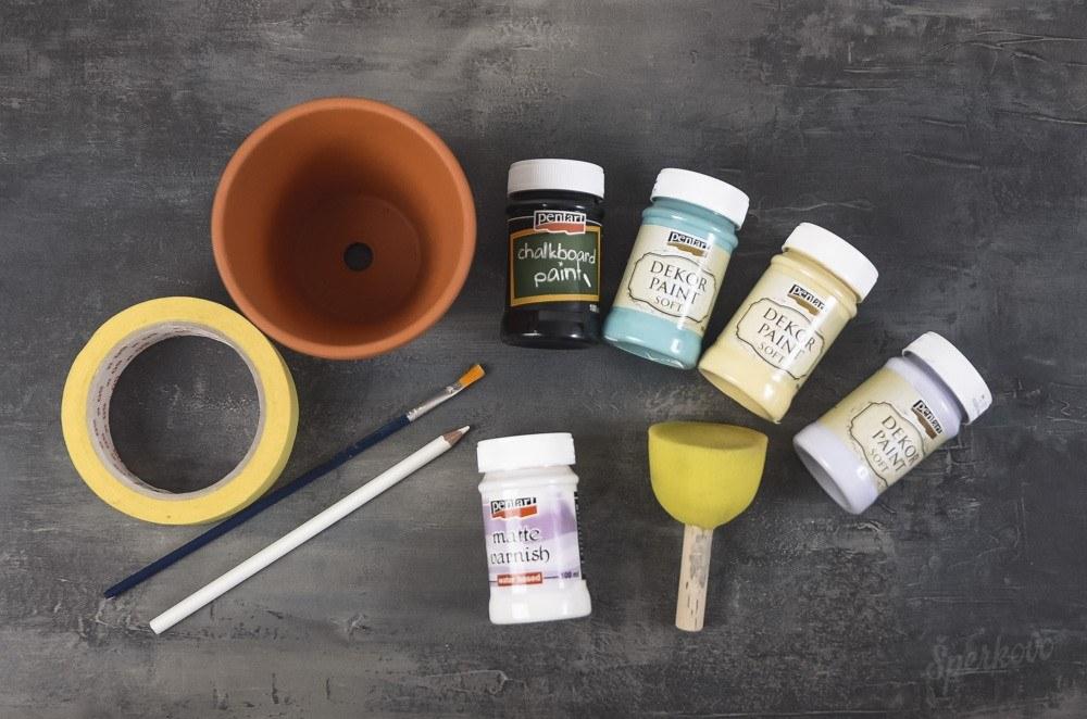Kreatívny návod na výrobu jarného maľovaného kvetináča