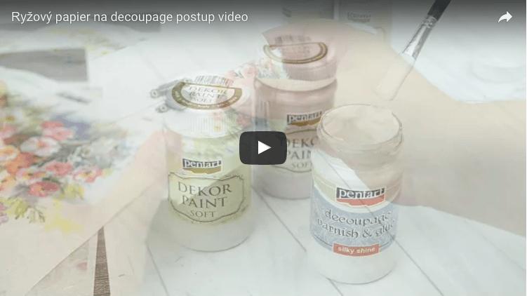 Ryžový papier na decoupage video postup
