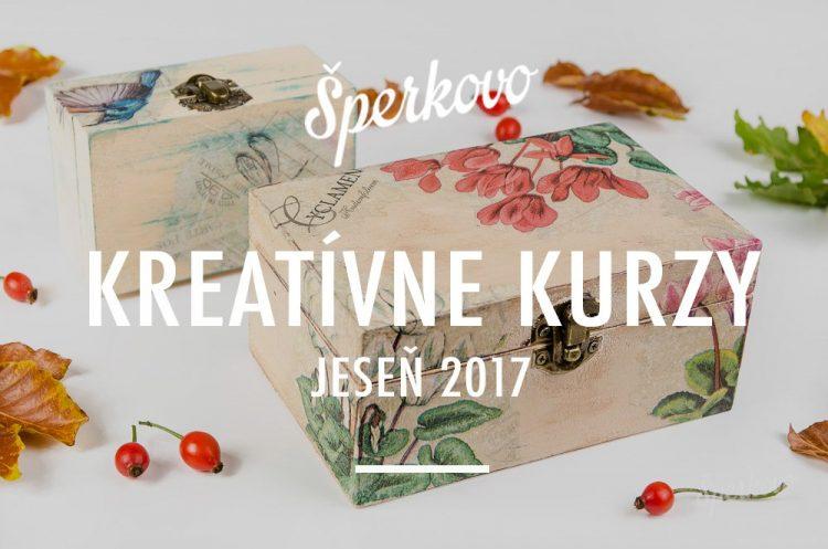 Jesenné kreatívne kurzy v Bratislave 2017