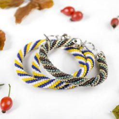Kreatívny kurz Šité šperky náramok háčkovaná dutinka