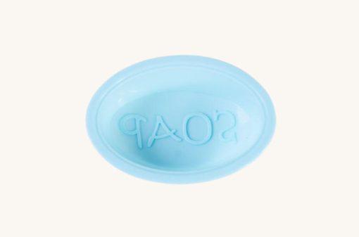 Oválna forma na mydlo s nápisom Soap