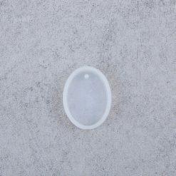 Silikónová forma na šperky ovál 28 x 21 x 7 mm