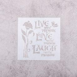 Šablóna na decoupage Love a kvet