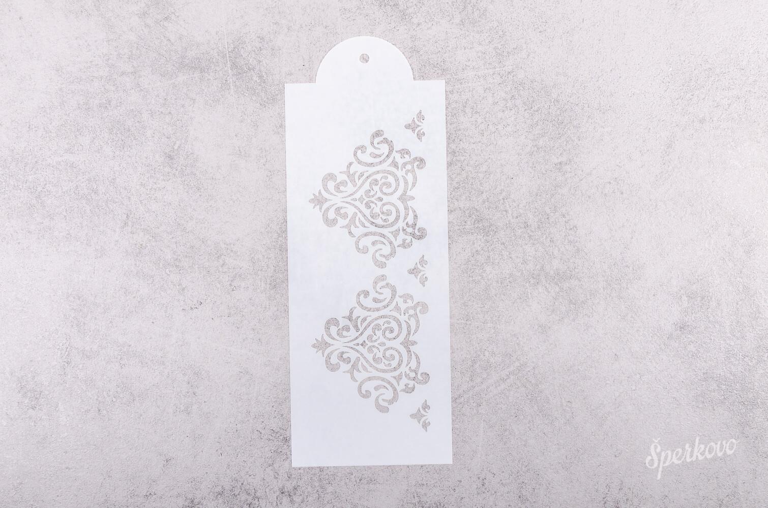 Šablóna na decoupage Ornament bordúra stredná