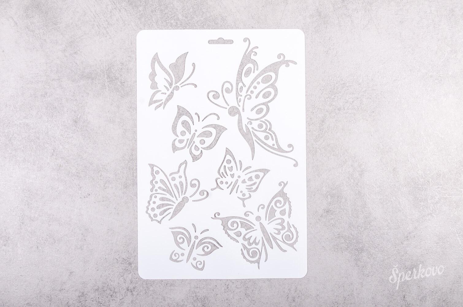 Šablóna na decoupage veľká Motýle