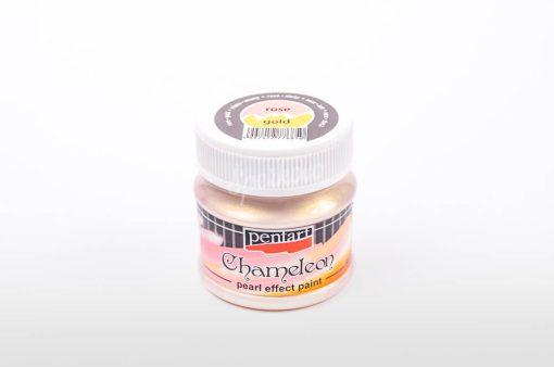 Akrylová farba chameleon ružovo - zlatá