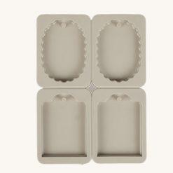 Veľká silikónová forma na mydlo rôzne tvary 4 v 1