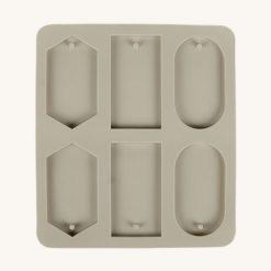 Veľká silikónová forma na mydlo rôzne tvary 6 v 1