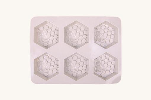 Veľká silikónová forma na mydlo včelí plást 6 v 1