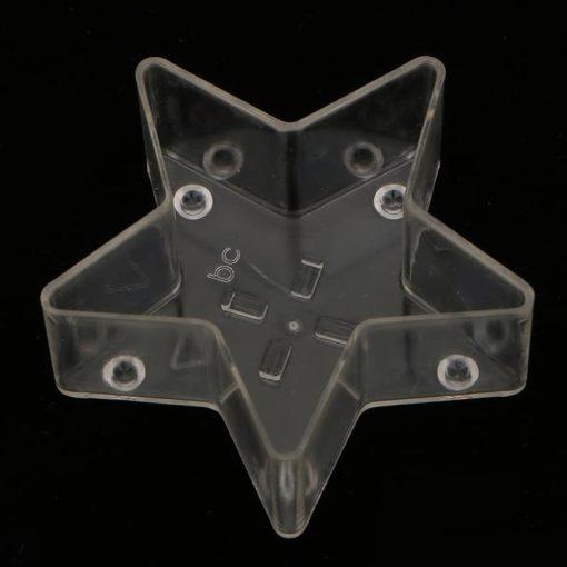 Plastová forma na sviečku hviezdička