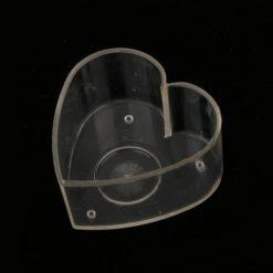 Plastová forma na sviečku srdiečko