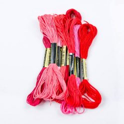 Bavlnky na vyšívanie mix ružový