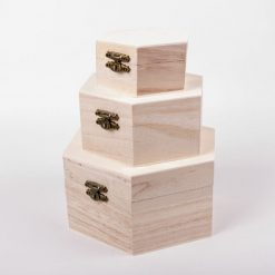 Drevené krabice na dekupáž octime sada 3 ks