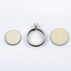 Drevený rám na vyšívané šperky kruh malý
