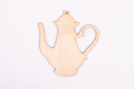 Drevený výrez čajník