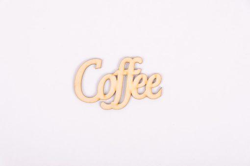 Drevený výrez nápis Coffee