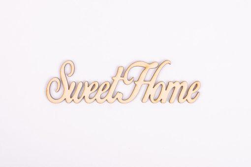 Drevený výrez nápis Sweet home