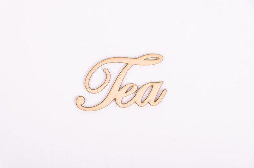 Drevený výrez nápis Tea