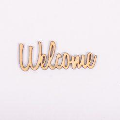 Drevený výrez nápis Welcome