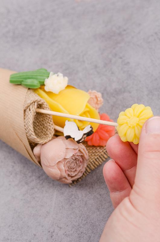 Mydlové kytice a podrobný návod a postup na ich výrobu
